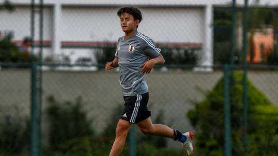 Takefusa Kubos is delighted by his Japanese Messi nickname. AFP