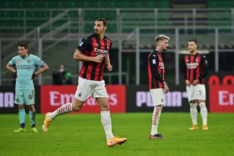 Ibra reapareció ante el Torino, y volvió al once también ante el Torino. AFP