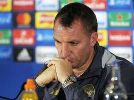 Brendan Rogers has urged his Celtic side to be less profligate in front of goal. AFP