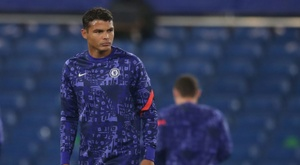 A simple present has got Thiago Silva into trouble. AFP