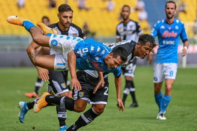 Napoli won 2-0. AFP