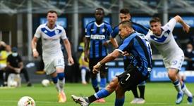 Alexis Sanchez signe à l'Inter Milan. AFP