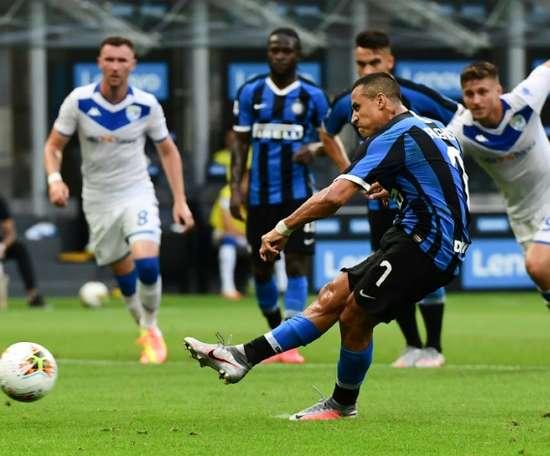 Sanchez resta all'Inter fino al 2023. AFP
