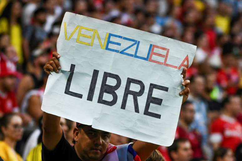 Venezuela were left to settle for a point. AFP