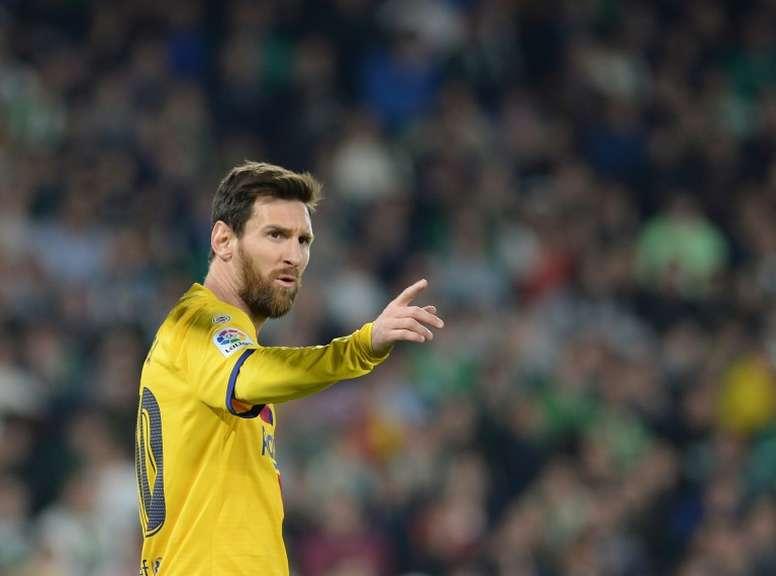 Messi a réalisé trois passes décisives contre le Betis Séville. AFP