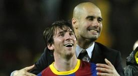 Guardiola no quiere fichar a Messi. AFP