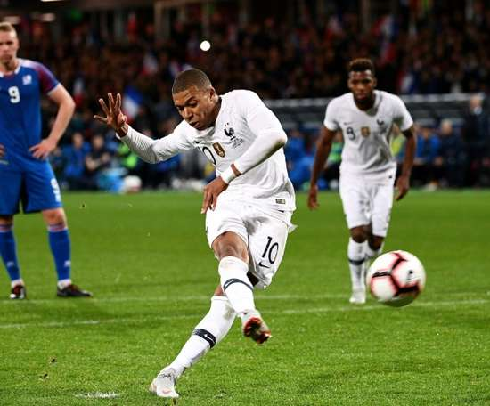Mbappe salvaged a draw for France from the spot. AFP