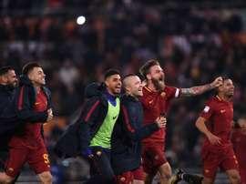 Roma edged to a 2-1 win over city rivals Lazio on Saturday. AFP