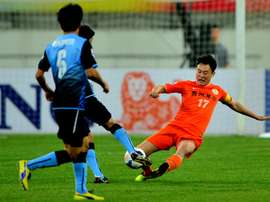 Former City midfielder Sun Jihai retired from international football. AFP