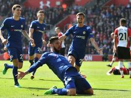 O Chelsea bateu o Southampton por 2-3. AFP