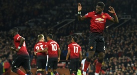 Paul Pogba led the way for United as they cruised to victory. GOAL
