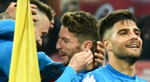 Napoli came from behind in style. AFP