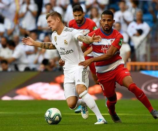 O United não se esquece de Kroos. AFP
