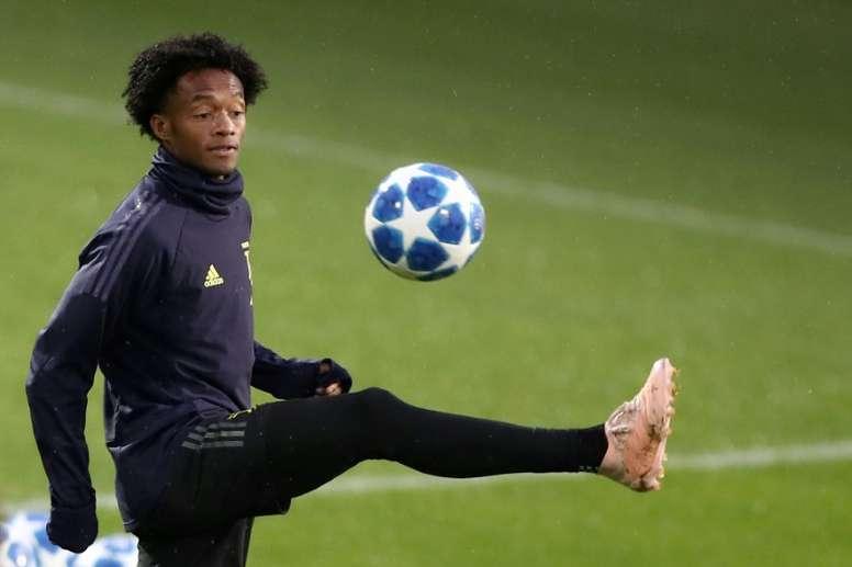 Cuadrado em sua 50ª partida na Europa. AFP