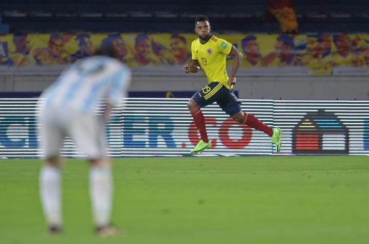 Colombia y Argentina empataron a dos. AFP