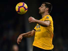 Jonny Otto signs for Wolves after spending the first half of the season at Molineux. AFP