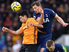 Tottenham up to fifth after late win at Wolves. AFP