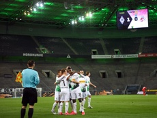 Gladbach beat Cologne behind closed doors to move fourth. AFP