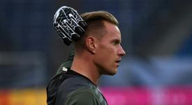 El guardameta le mandó un mensaje de ánimo al jugador del Wolverhampton. AFP