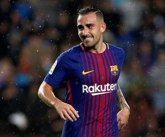 Alcacer has been linked with Alaves. AFP