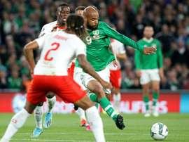 Irlanda logró frenar a Suiza en Dublín. AFP