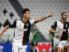 Cristiano Ronaldo got two in Juventus' draw with Atalanta. AFP