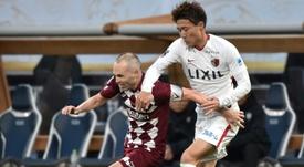 El Vissel Kobe de Iniesta cayó en la novena jornada de la Liga Japonesa. AFP