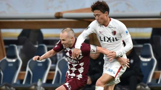 Andres Iniesta (L) has made Vissel Kobe fans optimistic ahead of the AFC Champions League. AFP