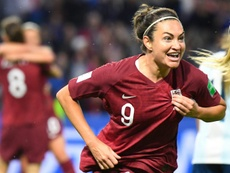 Jodie Taylor scored her 18th international goal for England. AFP