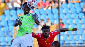 Omeruo's header sealed a crucial win for Nigeria. AFP