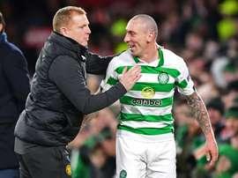 The Scottish league could declare Celtic champions. AFP