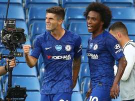 Christian Pulisic and Willian scored in Chelsea's win over Man City. AFP
