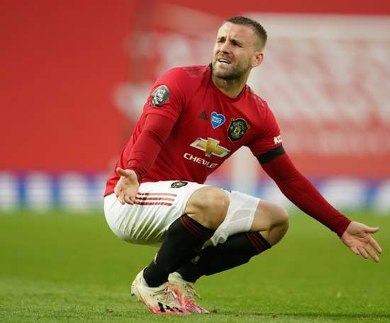 Luke Shaw has been ruled out of action for a month. AFP