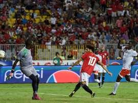 Salah had an eventful game. AFP