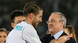 Florentino ya piensa en el nuevo Madrid. AFP