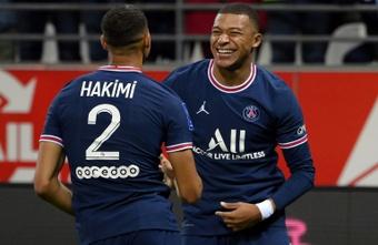 Mbappé fait gagner Paris pour la première de Messi. afp