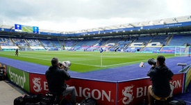 Leicester will still play home matches. AFP