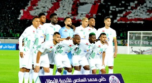 Le championnat marocain également à l'arrêt. AFP