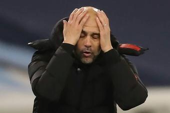 Esta temporada es la peor del City con Guardiola a los mandos. AFP