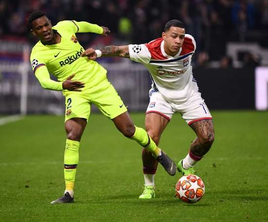 Memphis Depay was among those to be burgled. AFP
