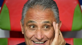 Staying in the hot seat: Brazil coach Tite. AFP