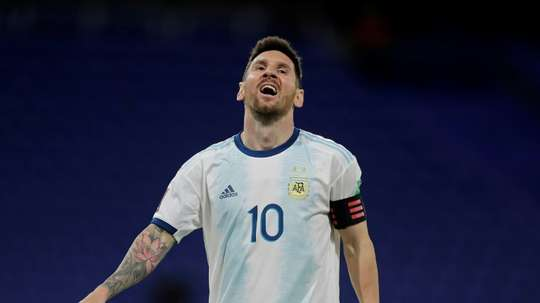 Lionel Messi arrived in Peru. AFP