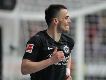 Kostic no asistió a la última sesión con el Eintracht de Frankfurt y apunta a la Lazio. AFP