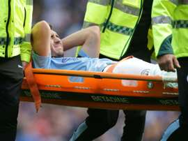 Laporte injury casts shadow over City's crushing victory. AFP