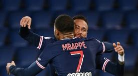 El PSG goleó al Dijon. AFP