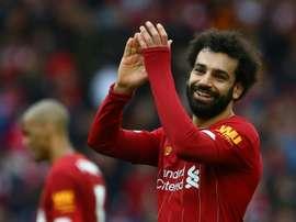 Salah donates thousands in food to his hometown. AFP