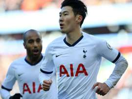 Son strikes late to edge Spurs past Villa in five-goal thriller. AFP