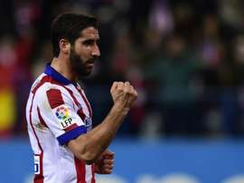 Spanish international Raul Garcia, pictured on January 28, 2015, is set to join Athletic Bilbao from Atletico Madrid after both clubs confirmed they had agreed a transfer fee