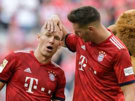 Robben got on the scoresheet with a stunner against Leverkusen. AFP