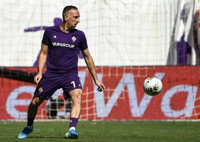 Franck Ribéry encore loin d'un retour. AFP